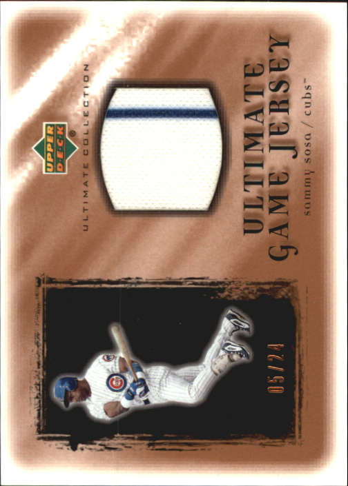 2001 Ultimate Collection Game Jersey Copper #USS Sammy Sosa