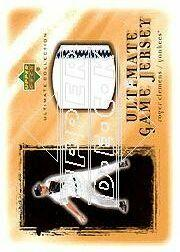 2001 Ultimate Collection Game Jersey Gold #URC Roger Clemens