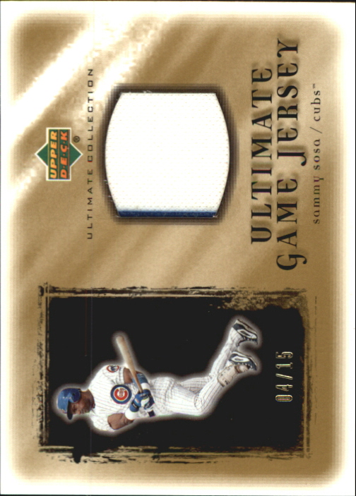 2001 Ultimate Collection Game Jersey Gold #USS Sammy Sosa