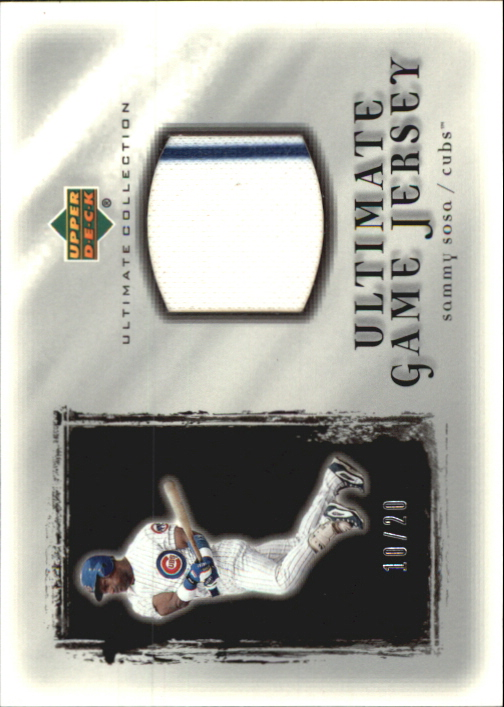2001 Ultimate Collection Game Jersey Silver #USS Sammy Sosa