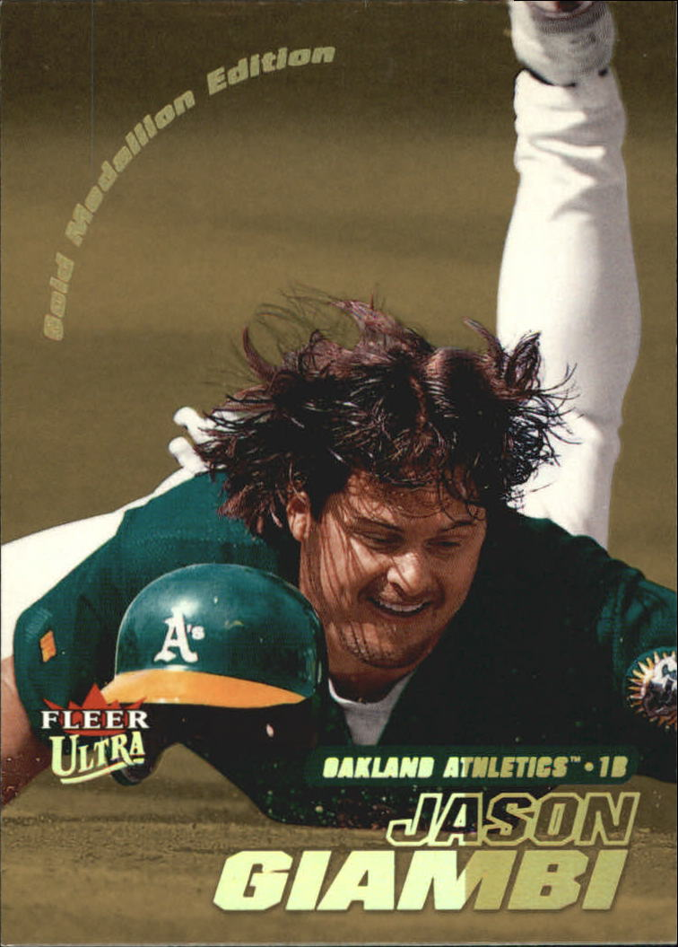 2001 Ultra Gold Medallion #21 Jason Giambi