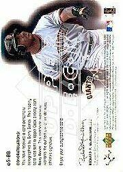 2001 Upper Deck eVolve Autograph #ESBB Barry Bonds S1 back image