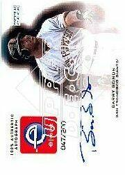 2001 Upper Deck eVolve Autograph #ESBB Barry Bonds S1 front image