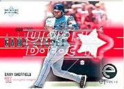 2001 Upper Deck eVolve Game Jersey #EJGS Gary Sheffield S2