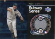 2001 Upper Deck Subway Series Game Jerseys #SSRC Roger Clemens