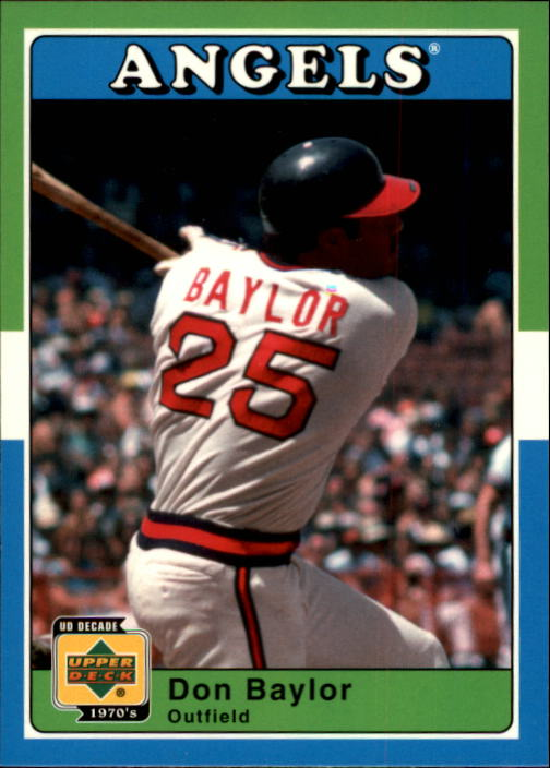 2001 Upper Deck Decade 1970's #2 Don Baylor