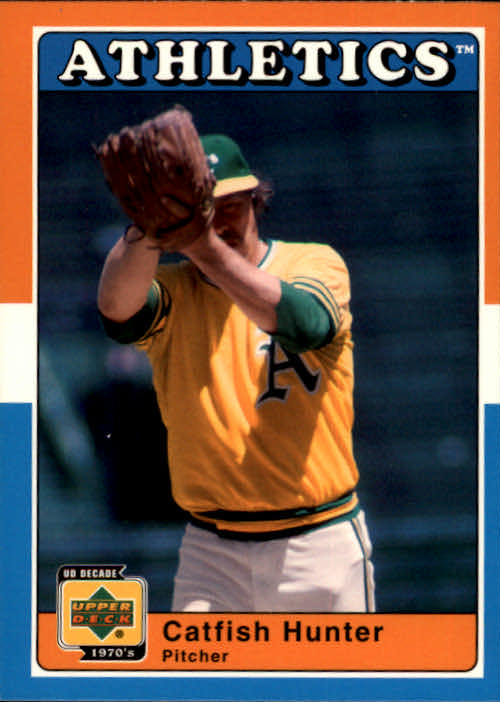 2001 Upper Deck Decade 1970's #5 Catfish Hunter front image