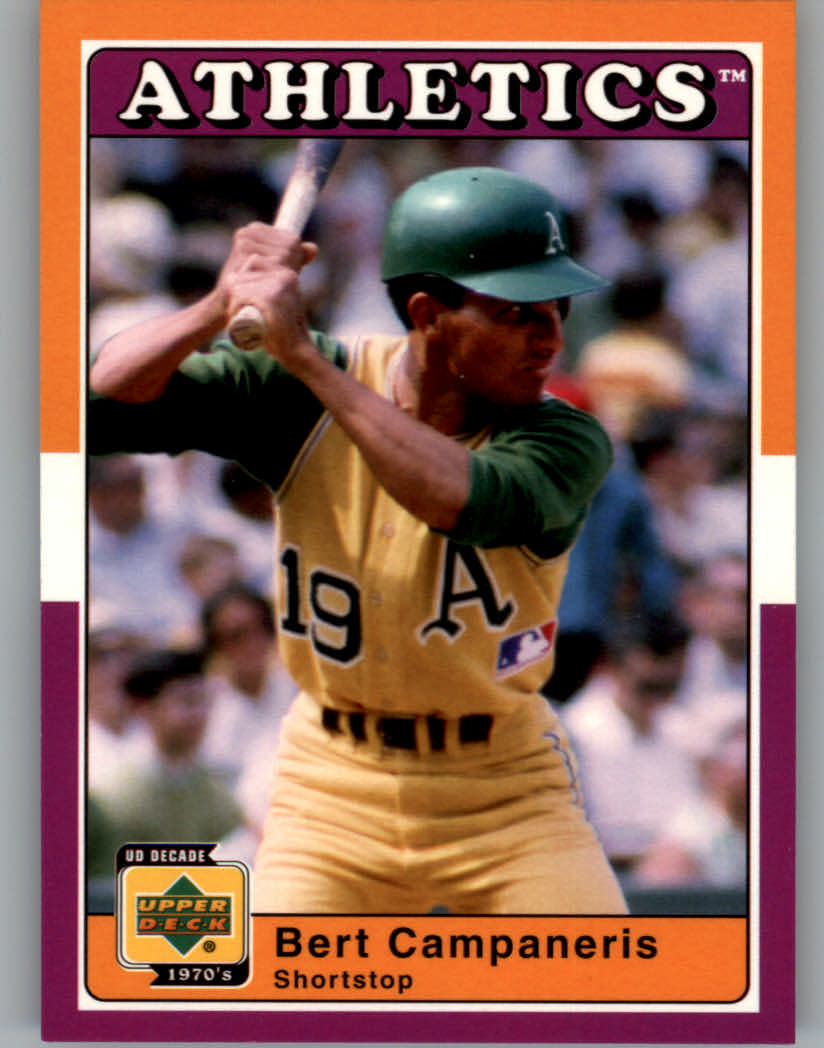 2001 Upper Deck Decade 1970's #9 Bert Campaneris