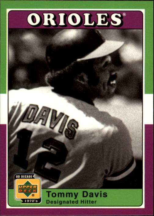 2001 Upper Deck Decade 1970's #18 Tommy Davis