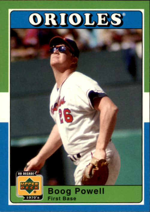 2001 Upper Deck Decade 1970's #20 Boog Powell
