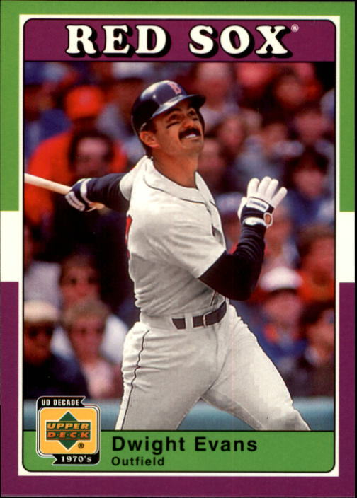 2001 Upper Deck Decade 1970's #24 Dwight Evans