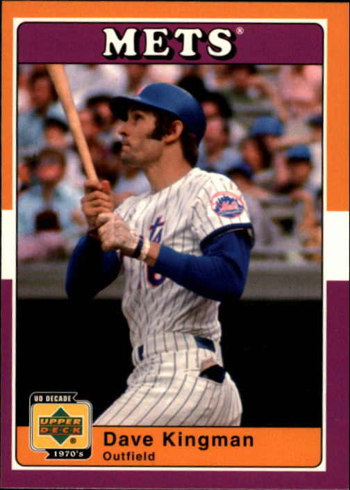 2001 Upper Deck Decade 1970's #75 Dave Kingman