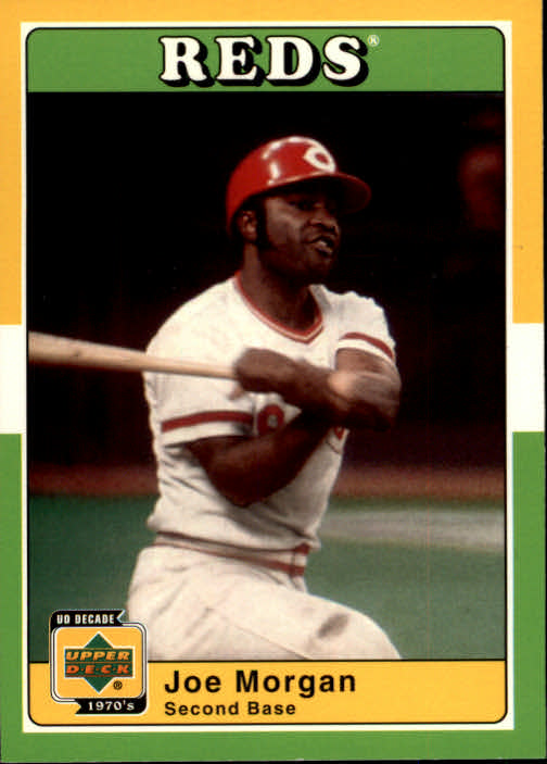 2001 Upper Deck Decade 1970's #88 Joe Morgan