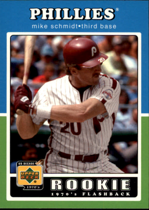 2001 Upper Deck Decade 1970's #99 Mike Schmidt RF