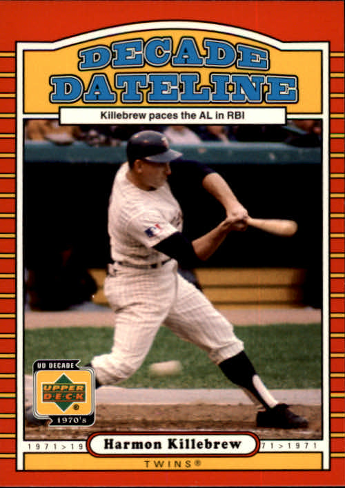 2001 Upper Deck Decade 1970's #116 Harmon Killebrew DD front image