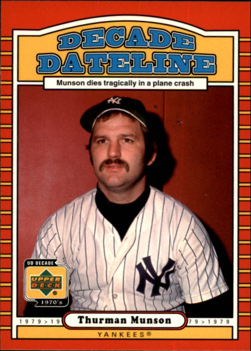 2001 Upper Deck Decade 1970's #139 Thurman Munson DD