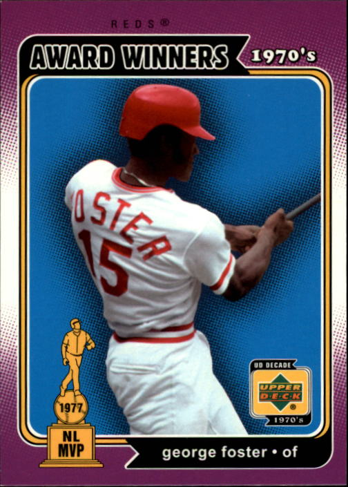 2001 Upper Deck Decade 1970's #162 George Foster AW