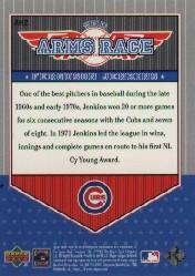 2001 Upper Deck Decade 1970's Arms Race #AR2 Ferguson Jenkins back image