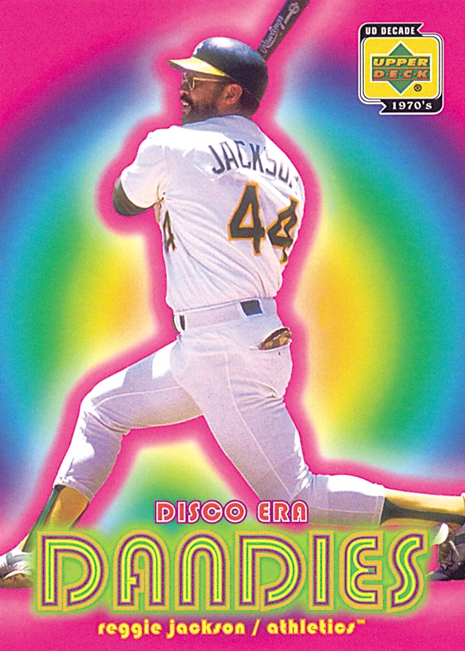 2001 Upper Deck Decade 1970's Disco Era Dandies #DE4 Reggie Jackson front image