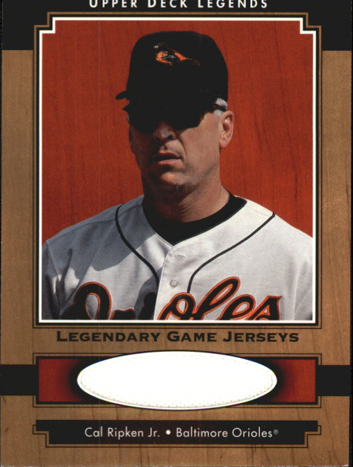 2001 Upper Deck Legends Legendary Game Jersey #JCR Cal Ripken DP