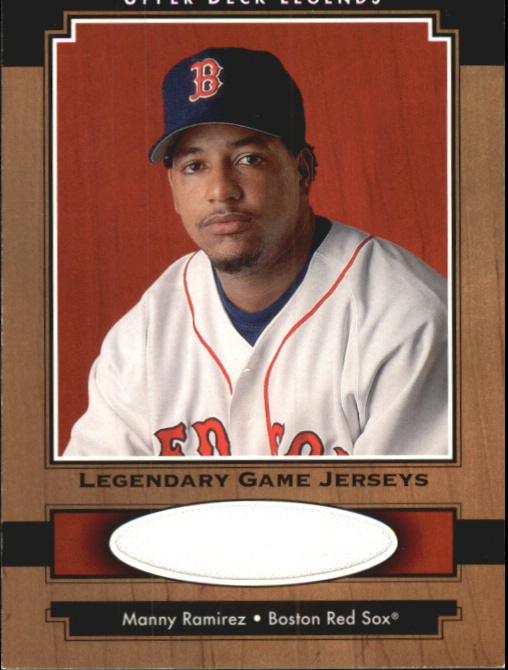 2001 Upper Deck Legends Legendary Game Jersey #JMR Manny Ramirez Sox