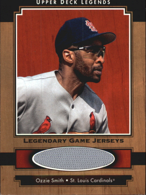 2001 Upper Deck Legends Legendary Game Jersey #JOS Ozzie Smith DP