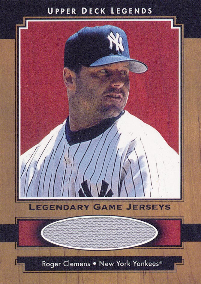 2001 Upper Deck Legends Legendary Game Jersey #JRCL Roger Clemens