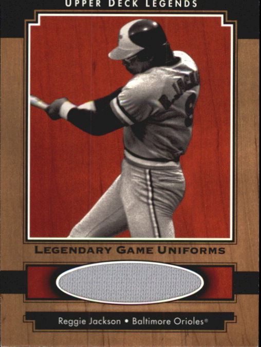 2001 Upper Deck Legends Legendary Game Jersey #JRJA Reggie Jackson Uni