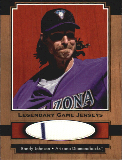 2001 Upper Deck Legends Legendary Game Jersey #JRJO Randy Johnson DP front image