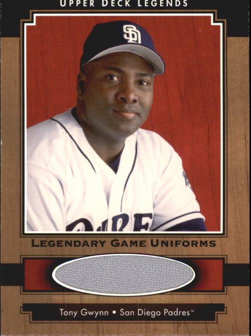 2001 Upper Deck Legends Legendary Game Jersey #JTG Tony Gwynn Uni DP