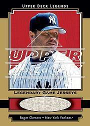 2001 Upper Deck Legends Legendary Game Jersey Gold #GJRCL Roger Clemens