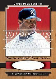 2001 Upper Deck Legends Legendary Game Jersey Autographs #SJRC Roger Clemens SP/211
