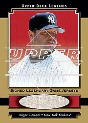2001 Upper Deck Legends Legendary Game Jersey Autographs Gold #GSJRC Roger Clemens