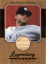 2001 Upper Deck Legends Legendary Lumber #LRCL Roger Clemens