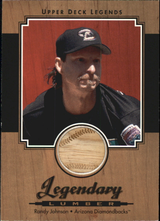 2001 Upper Deck Legends Legendary Lumber #LRJ Randy Johnson