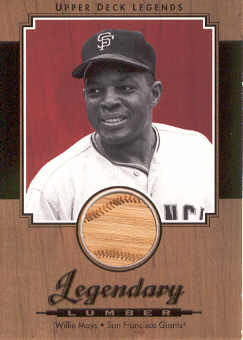 2001 Upper Deck Legends Legendary Lumber #LWM Willie Mays DP