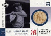 2001 Upper Deck Legends of NY Game Bat #LYBCK Charlie Keller