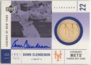 2001 Upper Deck Legends of NY Game Bat Autograph #SMBDC Donn Clendenon