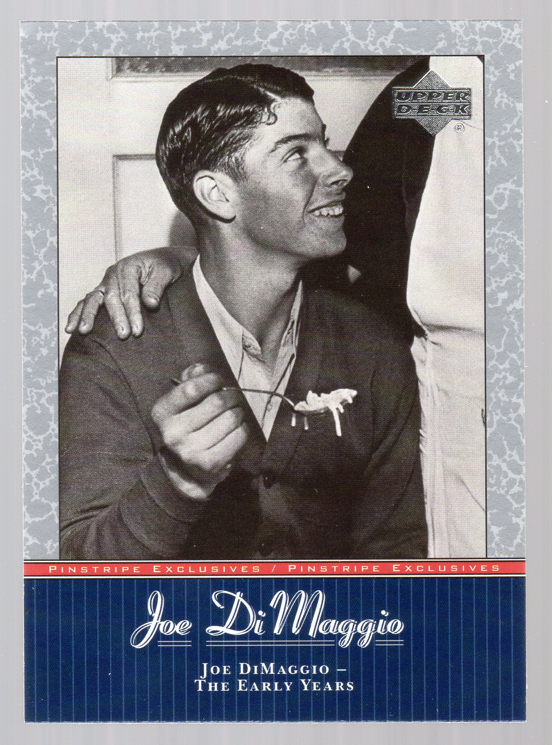 2001 Upper Deck Pinstripe Exclusives DiMaggio #JD1 Joe DiMaggio front image