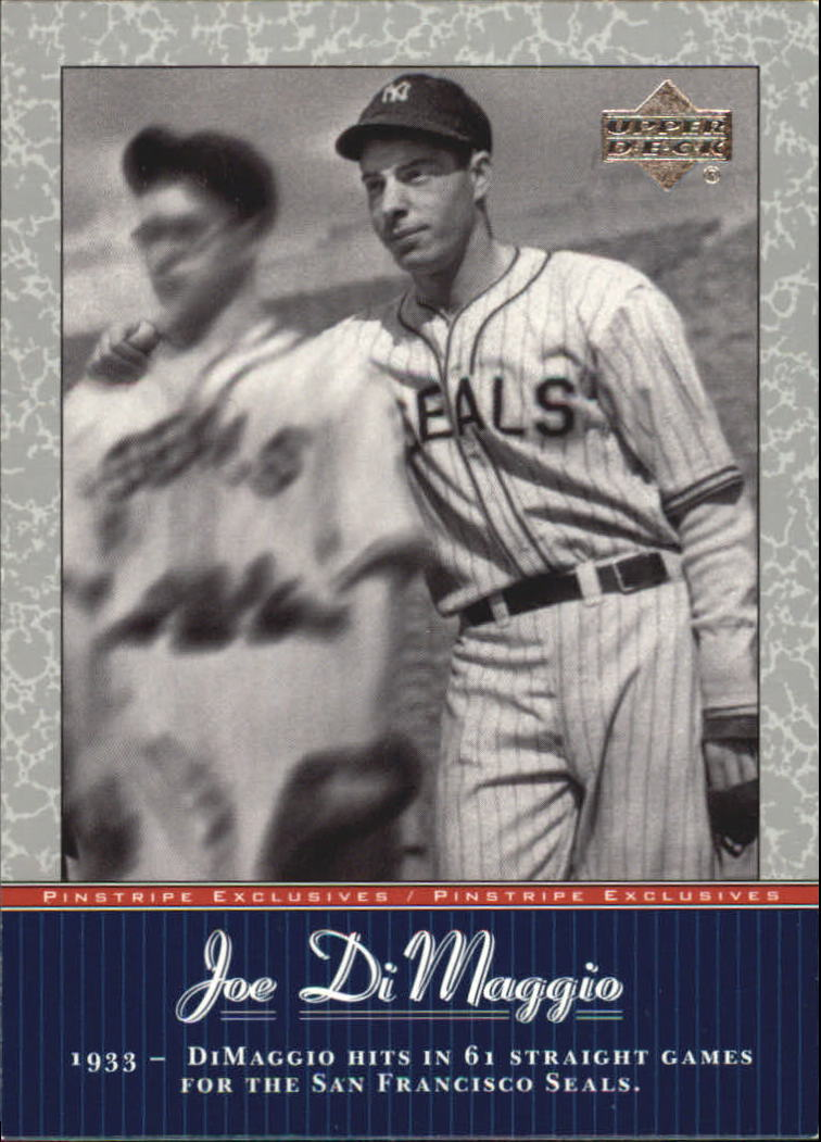 2001 Upper Deck Pinstripe Exclusives DiMaggio #JD3 Joe DiMaggio