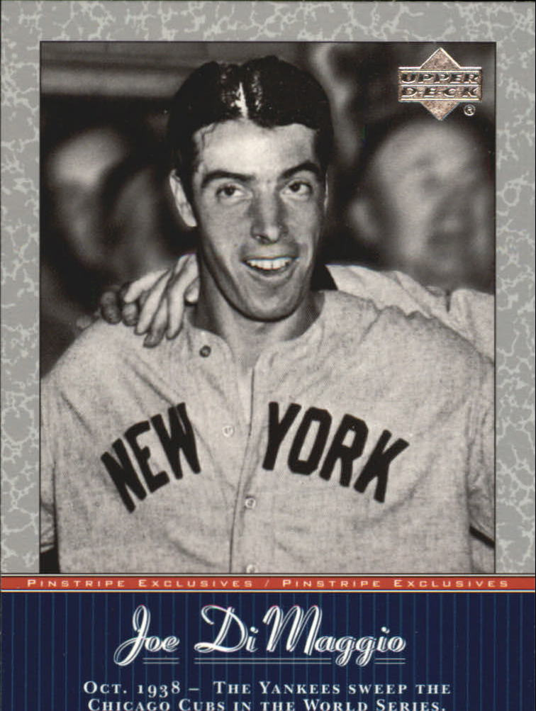 2001 Upper Deck Pinstripe Exclusives DiMaggio #JD12 Joe DiMaggio