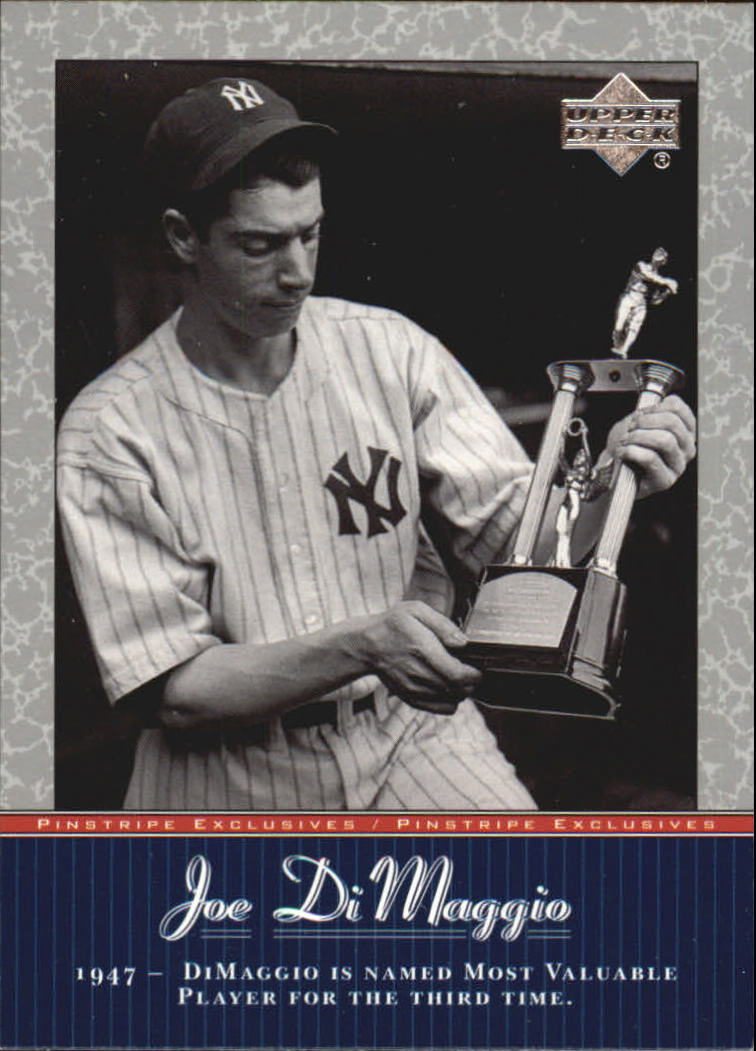 2001 Upper Deck Pinstripe Exclusives DiMaggio #JD32 Joe DiMaggio