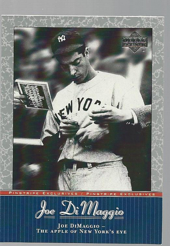 2001 Upper Deck Pinstripe Exclusives DiMaggio #JD34 Joe DiMaggio front image