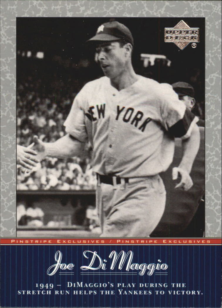 2001 Upper Deck Pinstripe Exclusives DiMaggio #JD38 Joe DiMaggio