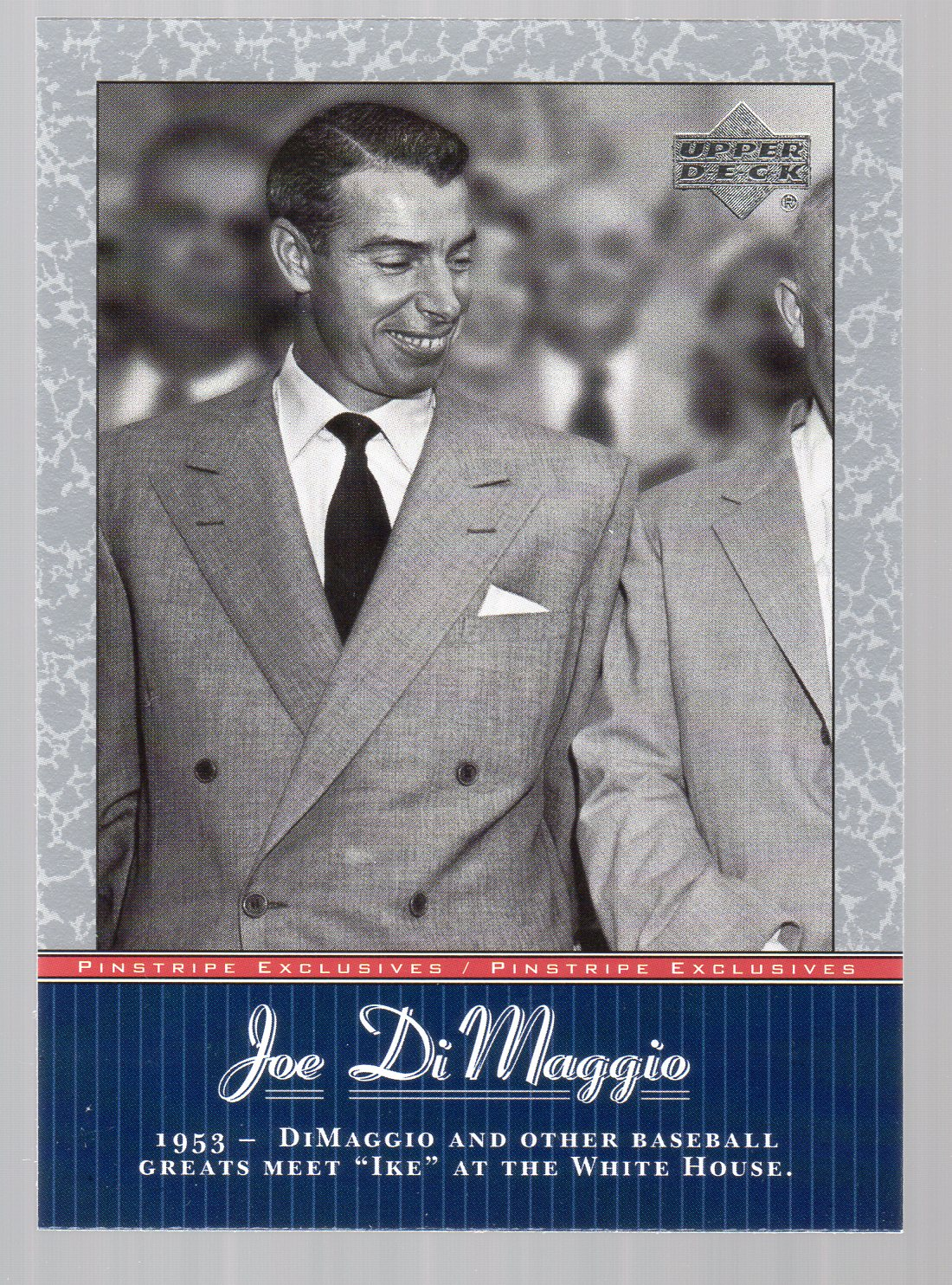 2001 Upper Deck Pinstripe Exclusives DiMaggio #JD43 Joe DiMaggio