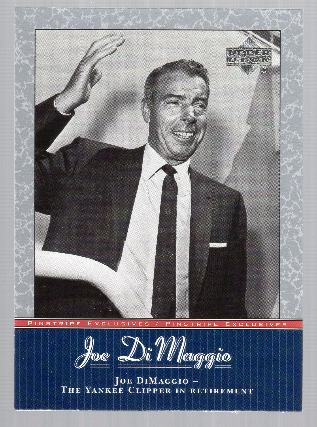 2001 Upper Deck Pinstripe Exclusives DiMaggio #JD44 Joe DiMaggio
