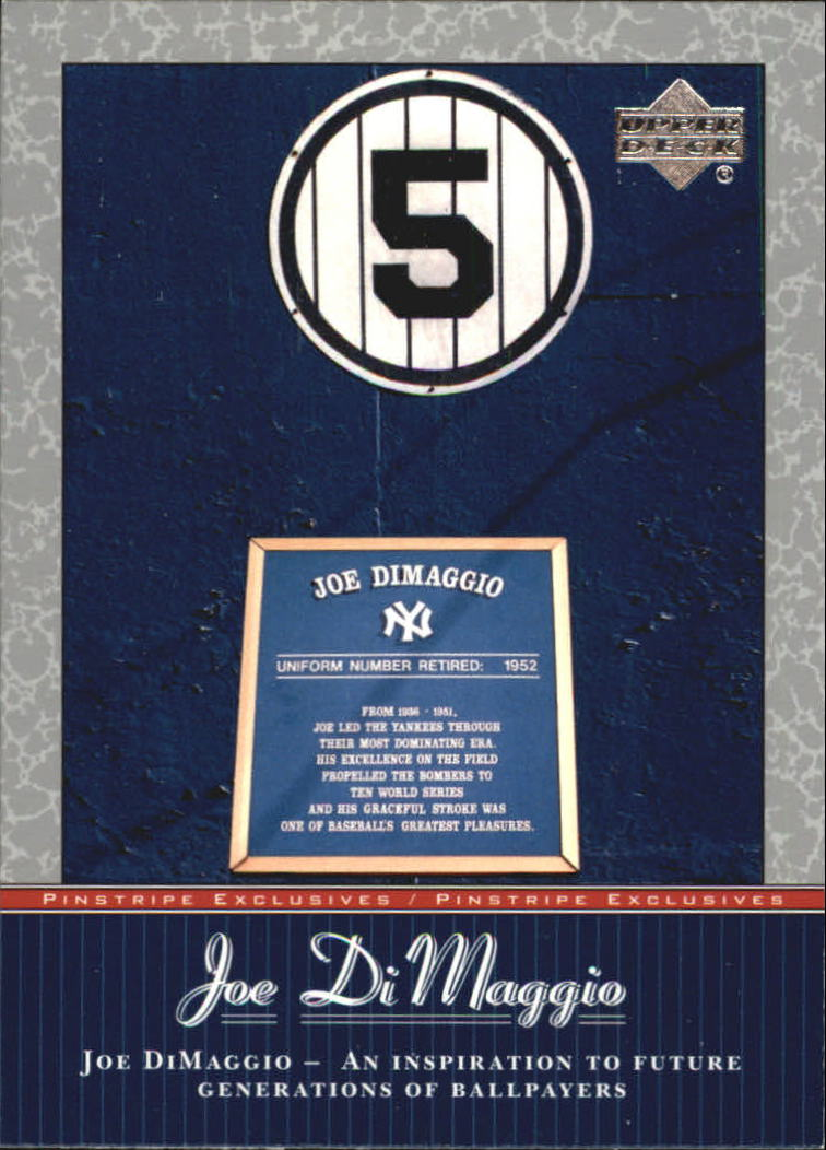 2001 Upper Deck Pinstripe Exclusives DiMaggio #JD45 Joe DiMaggio