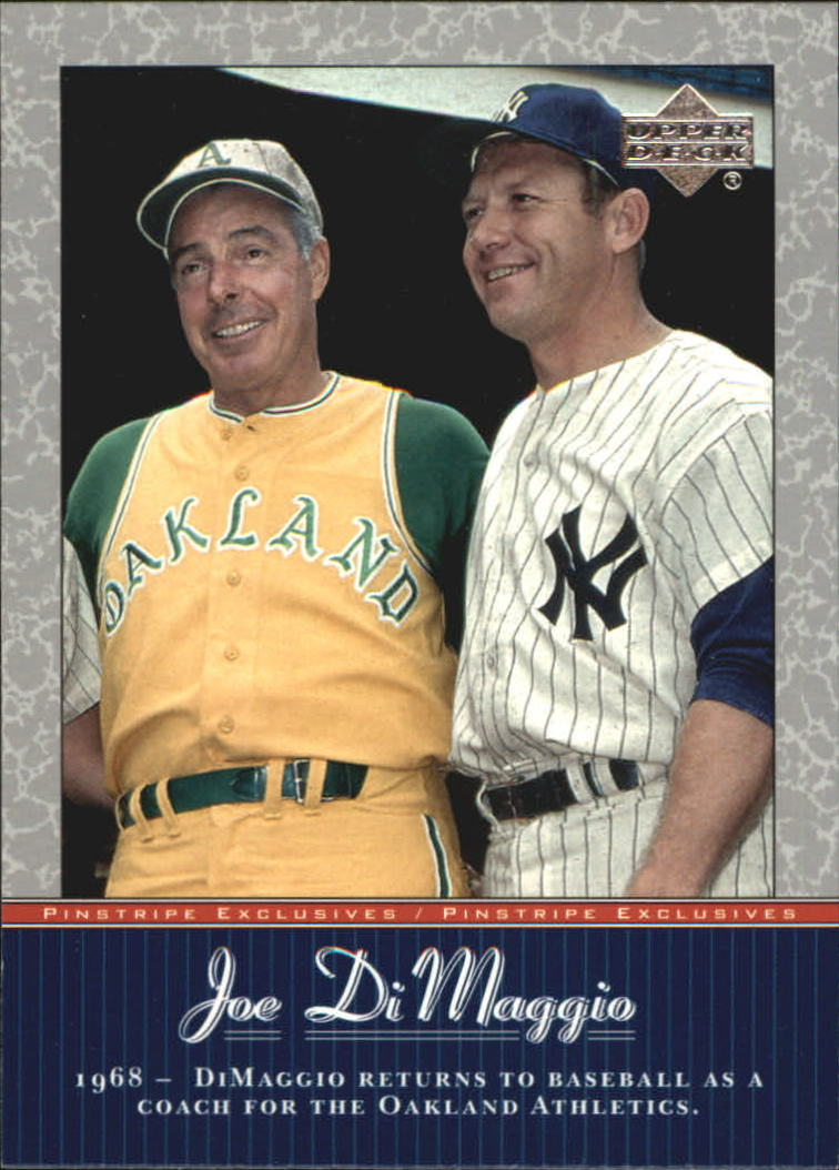 2001 Upper Deck Pinstripe Exclusives DiMaggio #JD49 Joe DiMaggio