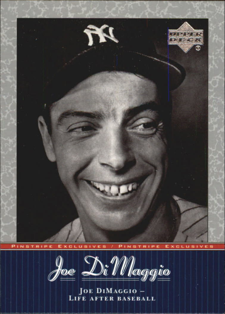 2001 Upper Deck Pinstripe Exclusives DiMaggio #JD51 Joe DiMaggio