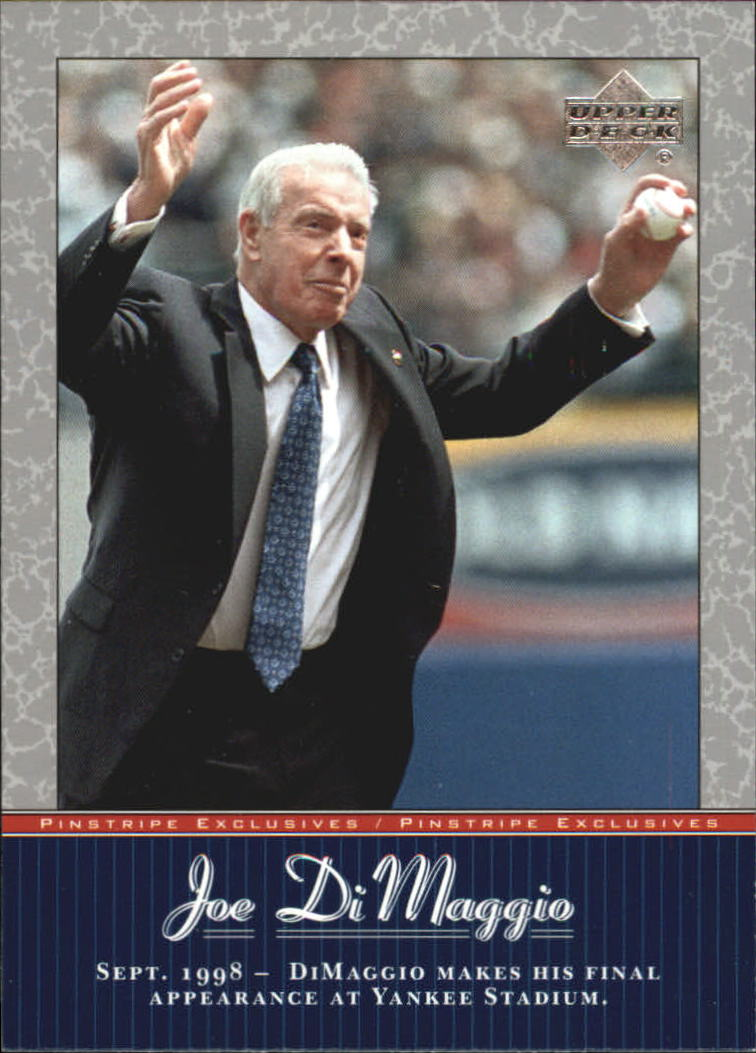 2001 Upper Deck Pinstripe Exclusives DiMaggio #JD52 Joe DiMaggio